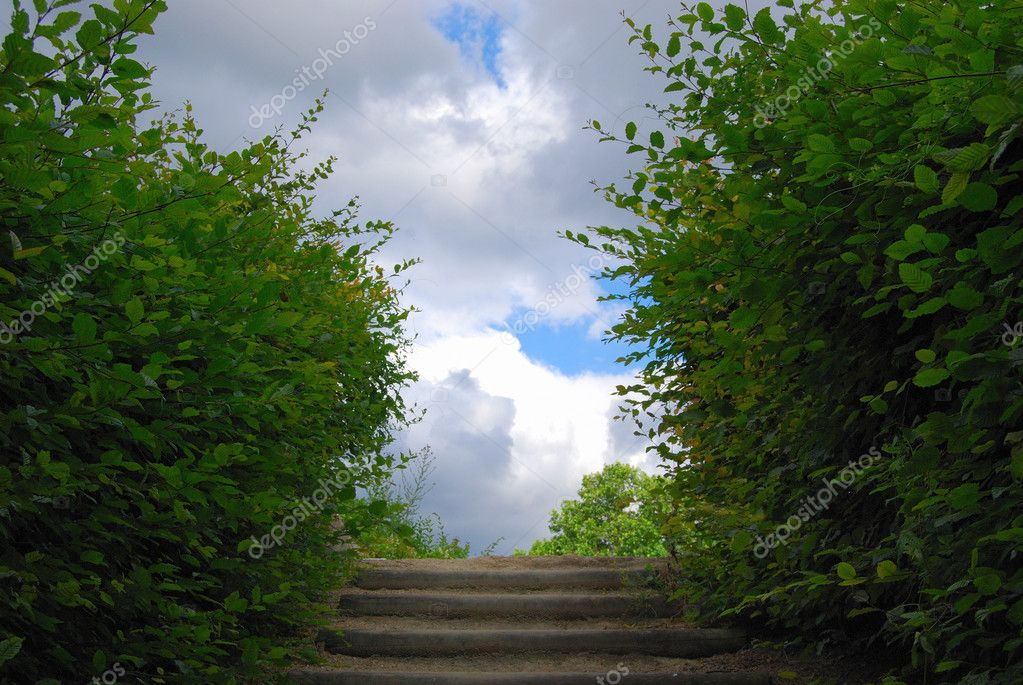 Stairway to heaven, Saint Denis park, Paris — Stock Photo #2073370