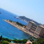 Monaco luxury hotel and the beach — Stock Photo #2081730