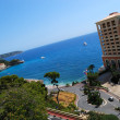 Monaco beach and luxury hotel — Stock Photo