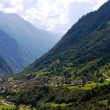 Mountain village in swiss Alps — Stock Photo #2082426