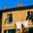 Italian feature - drying laundry — Stock Photo