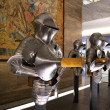 Stock Photo: Medieval knights plate armour set