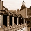 Stock Photo: Roofs of Baden Baden in sepicolor