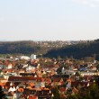Stuttgart-Esslingen and hills — Stock Photo