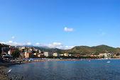 Arenzano coast and mediterranean sea — Stock Photo