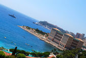 Monaco luxury hotel and the beach — Stock Photo