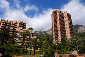 Monaco residential tall houses — Stock Photo