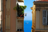 Monte Carlo glamour holiday: blue sea an — Stock Photo