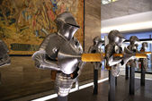 Medieval knights plate armour set — Stock Photo