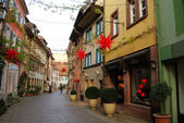 Street of Freiburg old town, Germany — Stock Photo