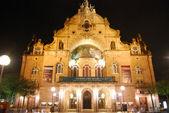 Nuernberg city opera at night — Stock Photo
