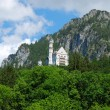Castle Neuschwanstein in Alps — ストック写真