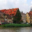 Bamberg old town and embankment - Stock Photo