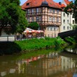 Calm cityscape in Bamberg - Stock Photo