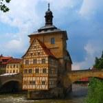 Town hall on the bridge, Bamberg — Stock Photo