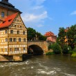 Bridge town hall in Bamberg - Stock Photo