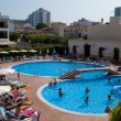 Hotel swimming pool in Can Picafort - Stock Photo