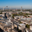 Cologne cityscape from Cologne cathedral — Stock Photo