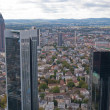 Stock Photo: Frankfurt downtown and bank district