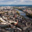 Frankfurt downtown and Main river - Stock Photo