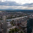 Stock Photo: Frankfurt banking district and Main