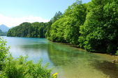 Mountain lake near Neuschwanstein — Stockfoto