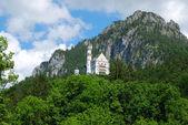 Castle Neuschwanstein in Alps — Stock Photo