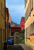 Residential inner yard — Stock Photo