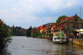 Regnitz river and Bamberg — Stock Photo