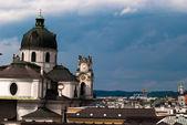 Salzburg under rainy clouds — Stock Photo
