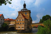 Town hall on the bridge, Bamberg — Stock Photo