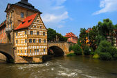 Bridge town hall in Bamberg — Stock Photo