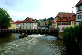 Bridge over Regnitz river in Bamberg — Stock Photo