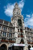Munich town hall main tower — Stock Photo