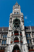 Munich town hall main spire — Stock Photo