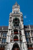 慕尼黑市政厅主要尖顶 — 图库照片