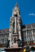 Munich Marienplatz - town hall — Stock Photo