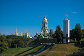 Religious orthodox district in Kyiv — Stock Photo