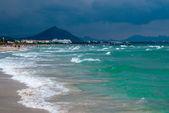 Mediterranean Sea and Majocra beach — Stock Photo