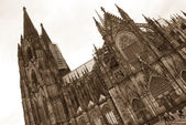 Cologne cathedral in sepia, Germany — Stock Photo