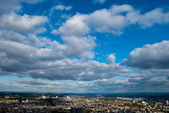 Cloudscape and Frankfurt city — Stock Photo