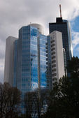 Syscrapers in Frankfurt — Stock Photo