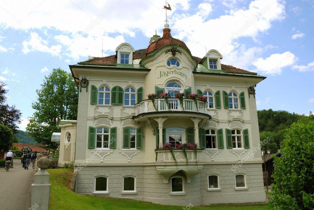 Casa di caccia nelle alpi della baviera foto stock for Piani casa del sud del cottage