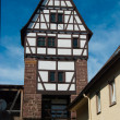 Medieval german house in Stuttgart - Stock Photo