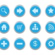 Blue internet icons — Stock Vector