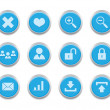 Blue internet icons2 — Stock Vector