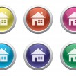 Royalty-Free Stock Vector Image: Glossy home buttons