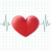 Pulse heart screen — Stock Vector