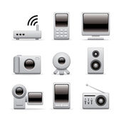 Multimedia icon set — Stock Vector