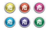 Glossy home buttons — Stock Vector